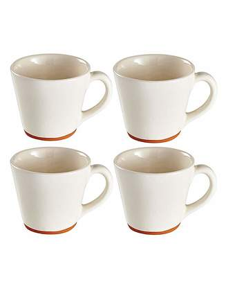 Fashion World Jantar Terracotta Large Mugs Set of 4
