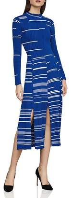 BCBGMAXAZRIA Striped Ribbed Sweater Dress