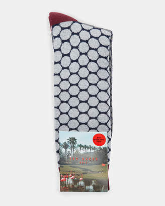 Ted Baker DIVVET Golf ball pattern cotton socks