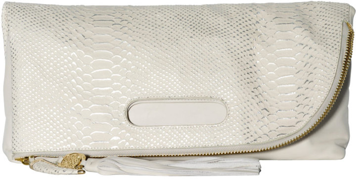 VINCE CAMUTO Juliann Snake-Embossed Clutch