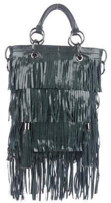 Thomas Wylde Leather Fringe Satchel