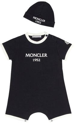 Moncler Enfant Baby bodysuit and hat set