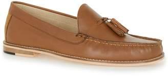 Topman Tan Leather Tassel Loafers