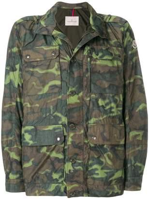Moncler camouflage zipped jacket