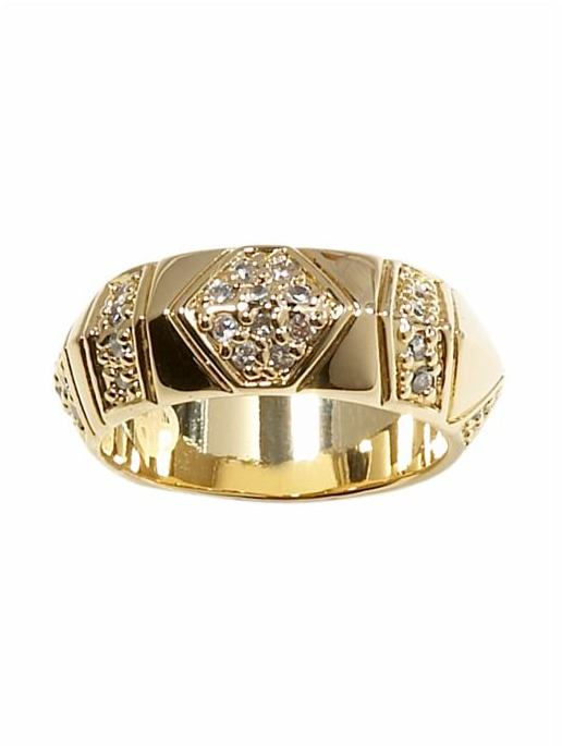 House of Harlow 1960 Pave Thick Stackable Ring