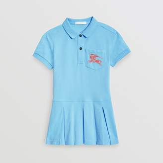 Burberry EKD Logo Cotton Polo Dress