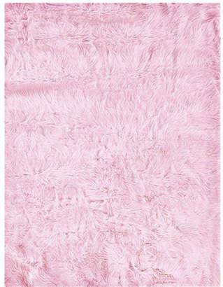 Threadbind Samantha Faux Sheepskin Pink Area Rug Rug