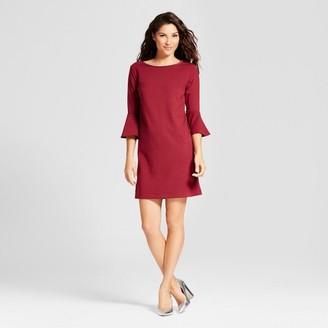 A New Day Women's Ponte Ruffle Sleeve Dress