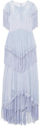 Alice McCall More Than A Woman Fringed Chantilly Lace Dress - Blue