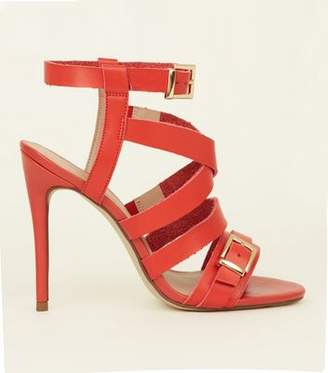 New Look Red Strappy Stiletto Heels