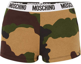Moschino Camouflage-print Cotton-jersey Boy Shorts