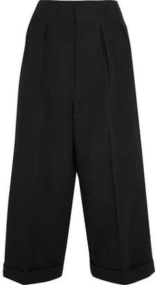Marni Pleated Linen-Blend Wide-Leg Pants