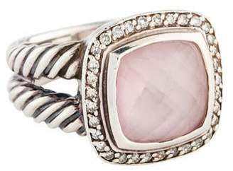 David Yurman Rose Quartz & Diamond Albion Ring