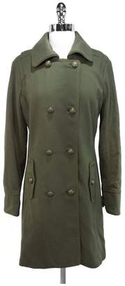 Charlotte Ronson Military Green Wool Coat