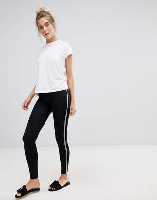 QED London basic leggings with black and white piping