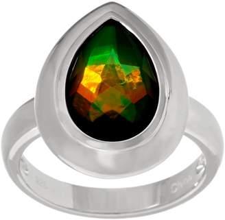 Pear Shaped Ammolite Triplet Sterling Ring