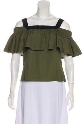 Jason Wu Grey by Off-The-Shoulder Short Sleeve Top