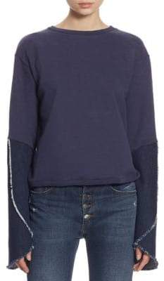 Each X Other Bell-Sleeve Cotton Sweatshirt