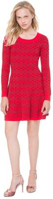 Juicy Couture Floral Stripe Fit-and-Flare Sweater Dress