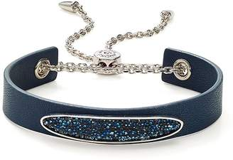 Adore Crystal & Leather Slider Bracelet