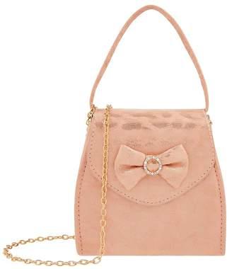 Monsoon Girls Pink Luna Leopard Shimmer Bag - Gold