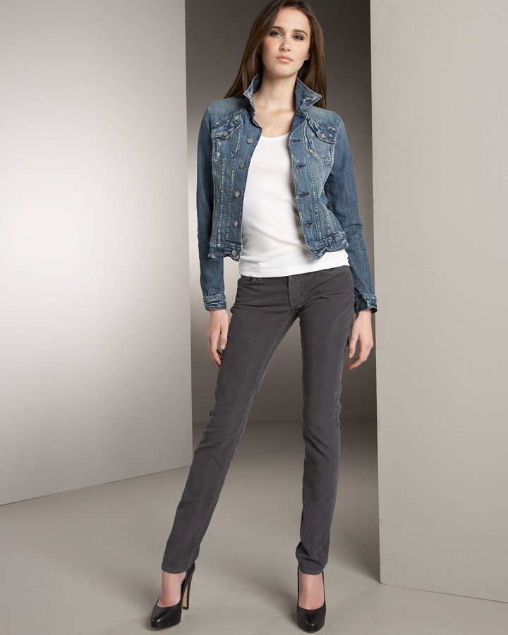7 For All Mankind Roxanne Skinny Corduroy Pants