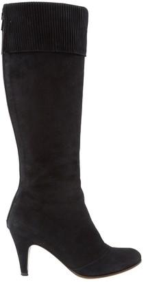 L'Autre Chose Black Suede Boots