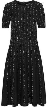 Jason Wu Embroidered Ribbed Wool-Blend Dress