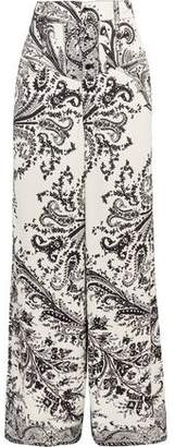 Etro Printed Crepe Wide-Leg Pants