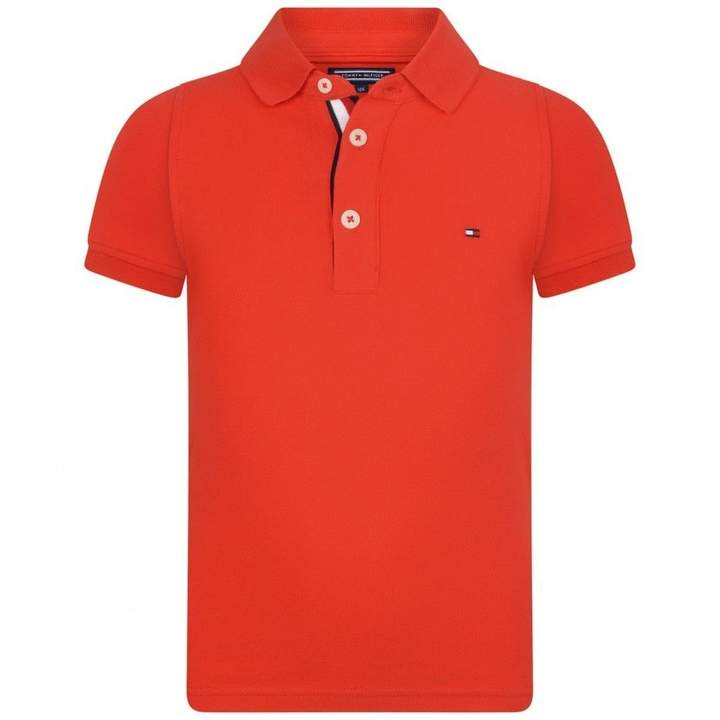 Tommy HilfigerBoys Red Slim Fit Polo Top