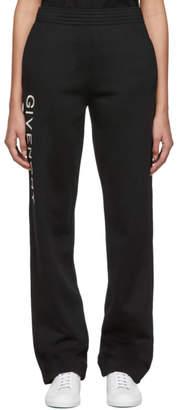 Givenchy Black Vertical Logo Jogger Lounge Pants