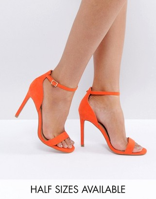 ASOS HANG TIME Barely There Heeled Sandals $40 thestylecure.com