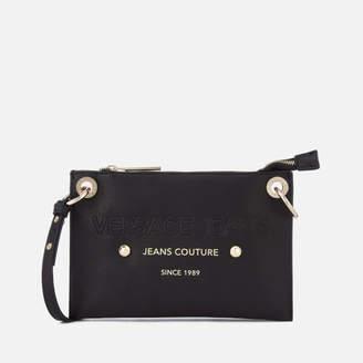 Versace Women's Logo Cross Body Bag - Black