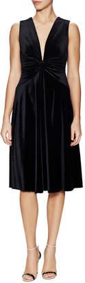 A.N.A Maria Perona Velvet Knee Dress