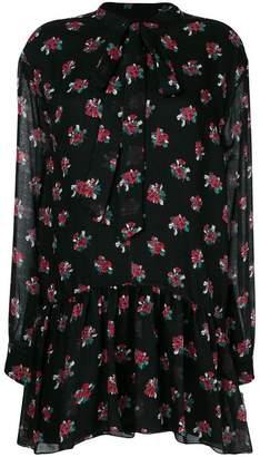 Saint Laurent short bouquet print dress