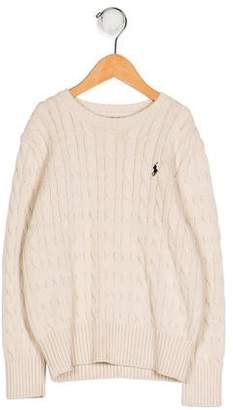 Polo Ralph Lauren Boys' Cable Knit Long Sleeve Sweater