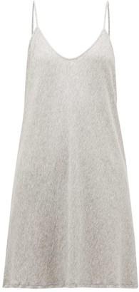 Skin - Scoop Neck Pima Cotton Slip Dress - Womens - Grey
