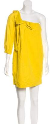 See by Chloe Linen-Blend One-Shoulder Dress w/ Tags