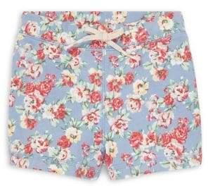 Ralph Lauren Childrenswear Little Girl's Floral Terry Shorts