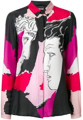 Just Cavalli colour-block fitted blouse