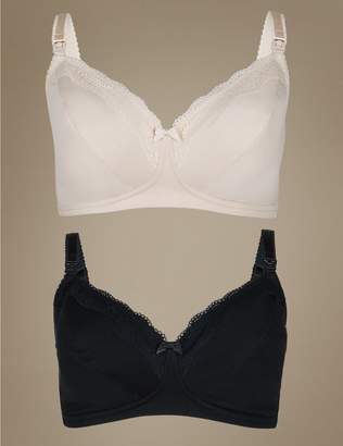 Marks and Spencer 2 Pack Cotton Rich Maternity Bras D-H