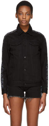 Marcelo Burlon County of Milan Black Kappa Edition Denim Jacket