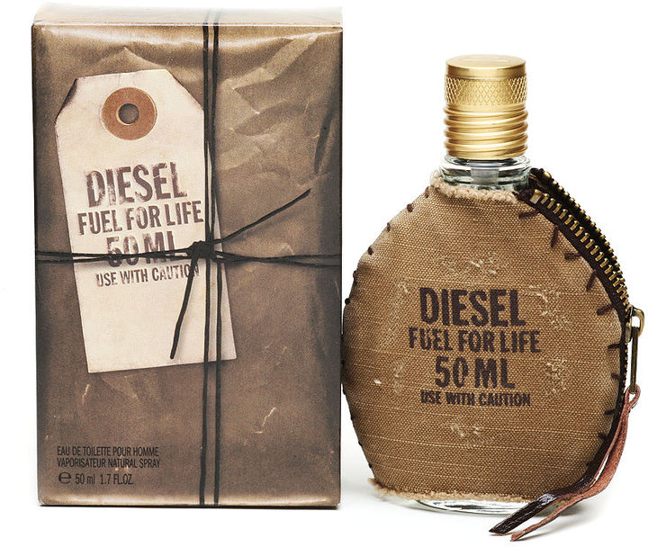 Diesel Fuel For Life Men Eau de Toilette Spray with Pouch 1.7 fl oz (50 ml)
