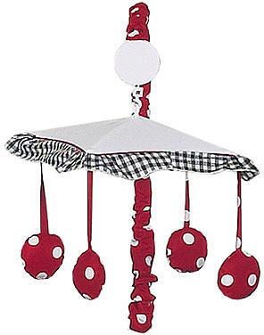JoJo Designs Sweet Polka Dot Ladybug Collection Musical Mobile