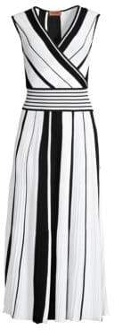 Missoni Stripe Plisse Knit A-Line Midi Dress