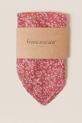 francesca's Astoria Floral Square Scarf in Cinnamon - Cinnamon