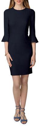 Donna Morgan Three-Quarter Sleeve Sheath Dress $118 thestylecure.com