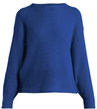 Allude Ribbed Cashmere Sweater - Womens - Blue