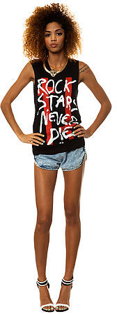 Civil The Rock Stars Muscle Tee in Black