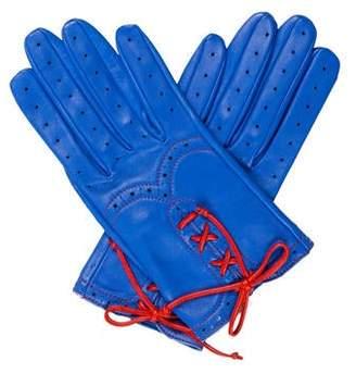 87d77528c32af Womens Blue Leather Gloves - ShopStyle Canada